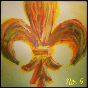 number-9-art-30-days-fleur-de-lis
